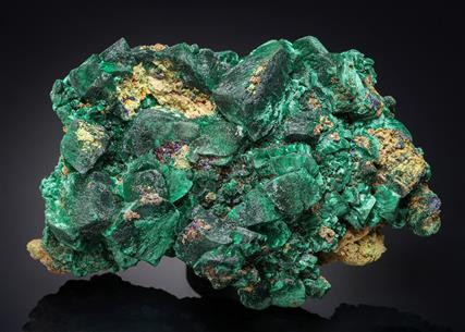 Malachite ps. after Azurite with Azurite and Duftite