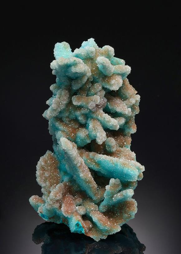 Chrysocolla ps. after Malachite ps. after Azurite