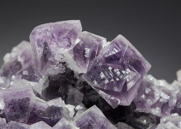 Fluorite with Calcite and Quartz