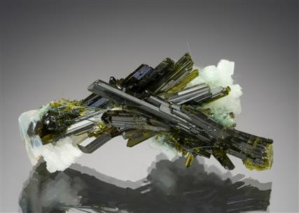 Epidote with Adularia and Amphibole var. Byssolite