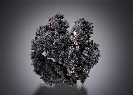 Native Silver with Erythrite