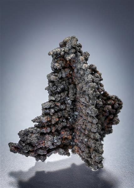 Native Silver with Stephanite and Erythrite